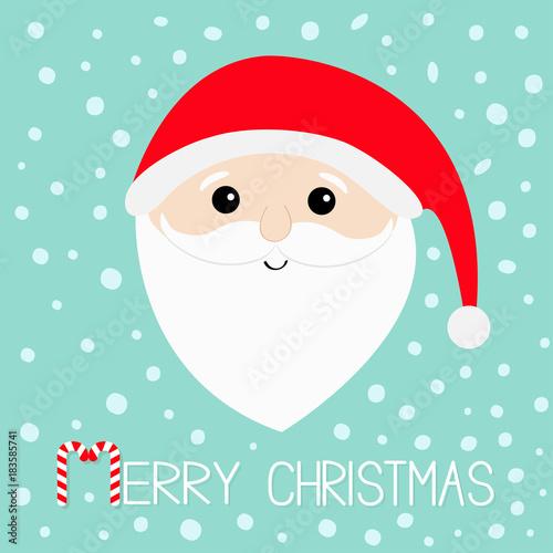 d9710a473cc71 Merry Christmas. Santa Claus head face