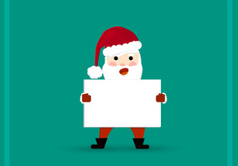 Christmas greeting card - greeting of Santa Claus. New Year
