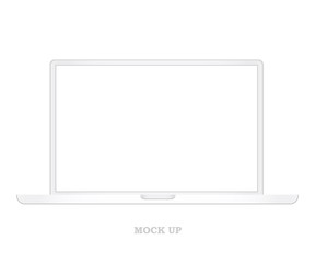 Laptop mock up vector.