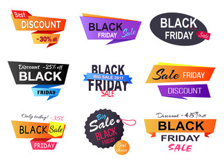 Only Today -35 Black Friday Vector Illustration Wall mural
