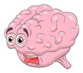 Cartoon screaming brain