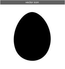 Egg vector icon isolated on white food symbol