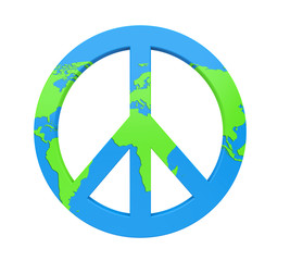 World Peace Symbol Isolated