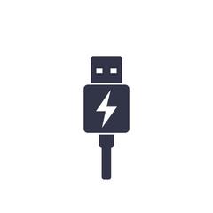 usb charging plug icon