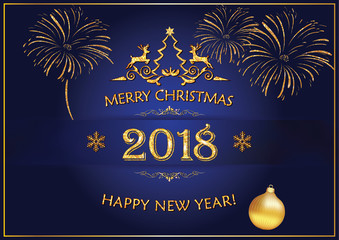 Search photos business greeting card merry christmas and happy new year 2018 corporate greeting card with blue background m4hsunfo