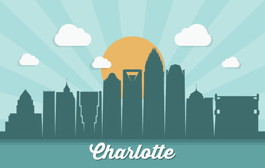 Charlotte skyline, North Carolina