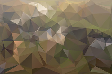 Abstract polygonal background in multicolored shades. There is a variant in the vector.