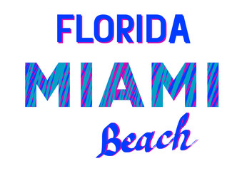 Color logo with letters of Miami Florida on white background