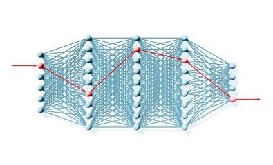 Artificial deep neural network, schematic view