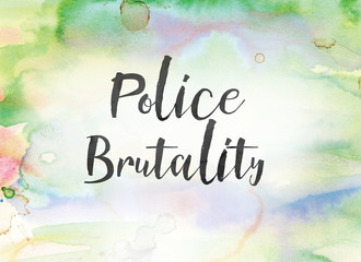Police Brutality Concept Watercolor and Ink Painting
