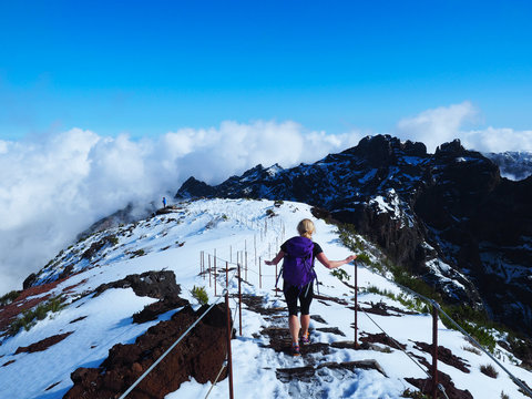 Auf dem Pico Ruivo, dem höchsten Berg Madeiras