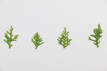 green Pine Christmas tree set