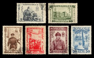 Postage stamps. Mongolia. 1932 Mongolian Revolution