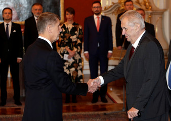 Czech President Zeman appoints Babis as the country's new Prime Minister in Prague