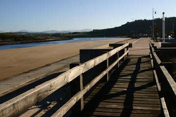 Playa de Suances en Cantabria, España