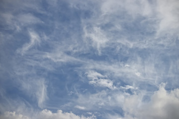 The sky in cirrus white clouds