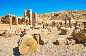 In Persepolis archaeological complex, Iran