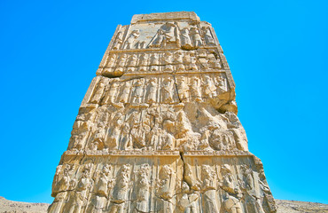 Reliefs on ancient gate, Persepolis, Iran