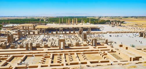 Aerial view of Persepolis, Iran