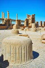Old columns of Persepolis, Iran