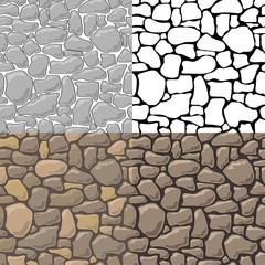 Set of stone wall seamless texture