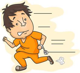 Prisoner Running Handcuffs