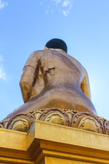 Looking up from the behind of the Buddha Dordenma statue, Kuensel Phodrang Nature Park, Thimphu, Bhutan