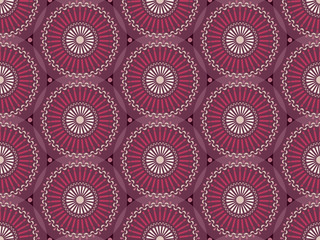 Seamless pattern with mandalas in the African style.