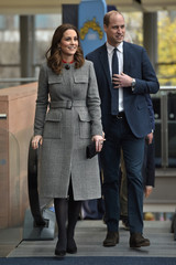 Britain's Prince William and Catherine, Duchess of Cambridge arrive for a visit to the Children's Global Media Summit at the Manchester Central Convention Complex in Manchester