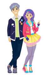 Teen Couple K Pop Fashion