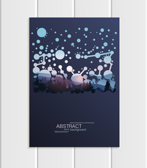 Vector brochure A5 or A4 format abstract circles and mountain landscape design element corporate style