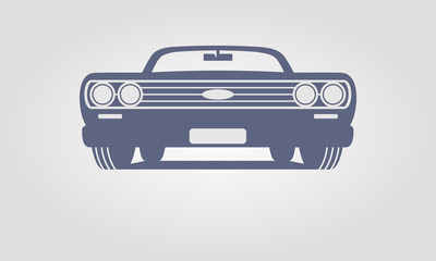 Generic retro car front view