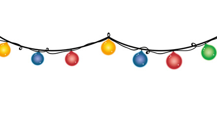 merry christmas lights decoration design