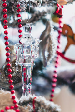 Glass soldier on Christmas tree