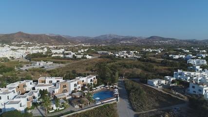 Grèce Cyclades île de Naxos vue du ciel