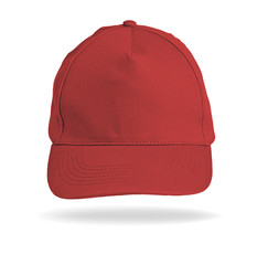 Red Baseball Cap on a white background.