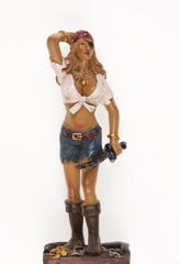 pirate girl, a pirate woman statue