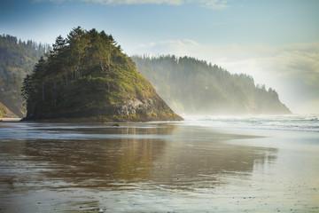 Proposal Rock at Neskowin Beach on the Oregon Coast.