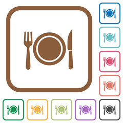 Dinner simple icons