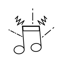 line musical note sign to rhythm sound