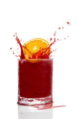 Erfrischungsgetränk mit Splash