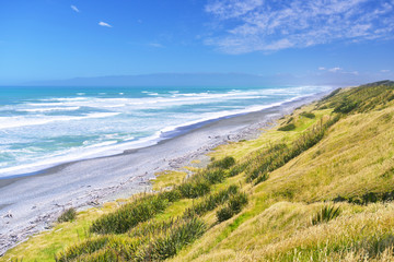 Abandoned beach in Catlins district, South of South island, New Zealand
