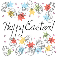 Happy Easter card. Vector background
