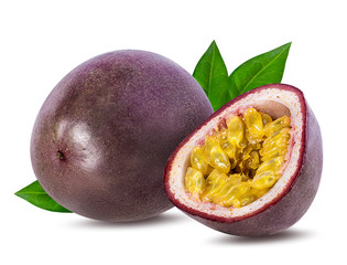 Wall Mural - Passion fruit isolated on the white background.