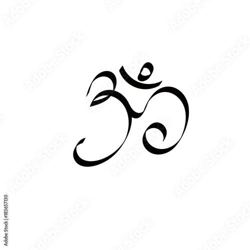 Art Ohm Sign Om Symbol Yoga Aum Symbolizing Stock Image And