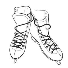 Sketch of the figured skates.