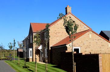 Modern housing estate in England