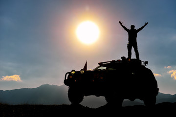 challenge the nature & reaching challenging places with off-road vehicle