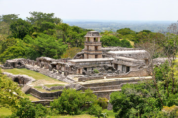 Ancient ruins in Palenque, Mexico