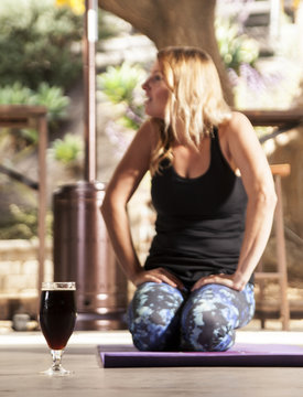 Beer yoga class in Local San Diego Brewer